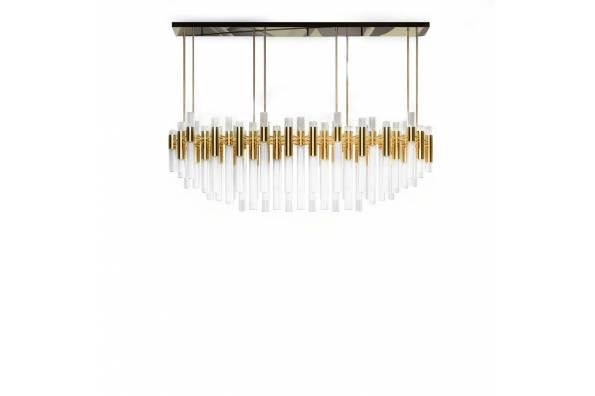 Waterfall rectangular chandelier  фото цена