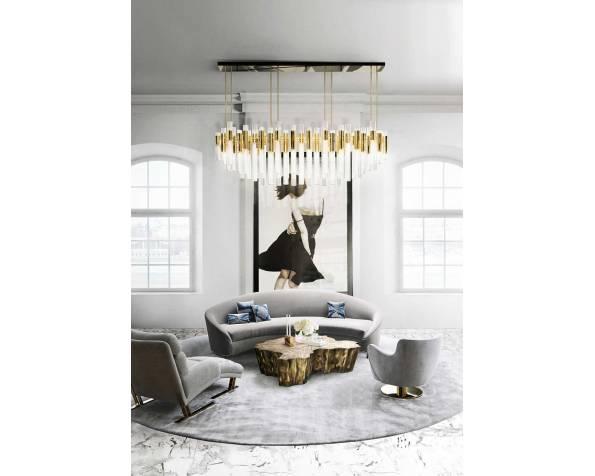Waterfall rectangular chandelier