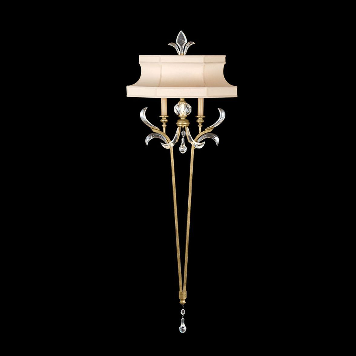 Beveled arcs gold sconce