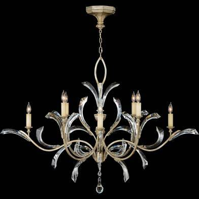 Beveled arcs chandelier