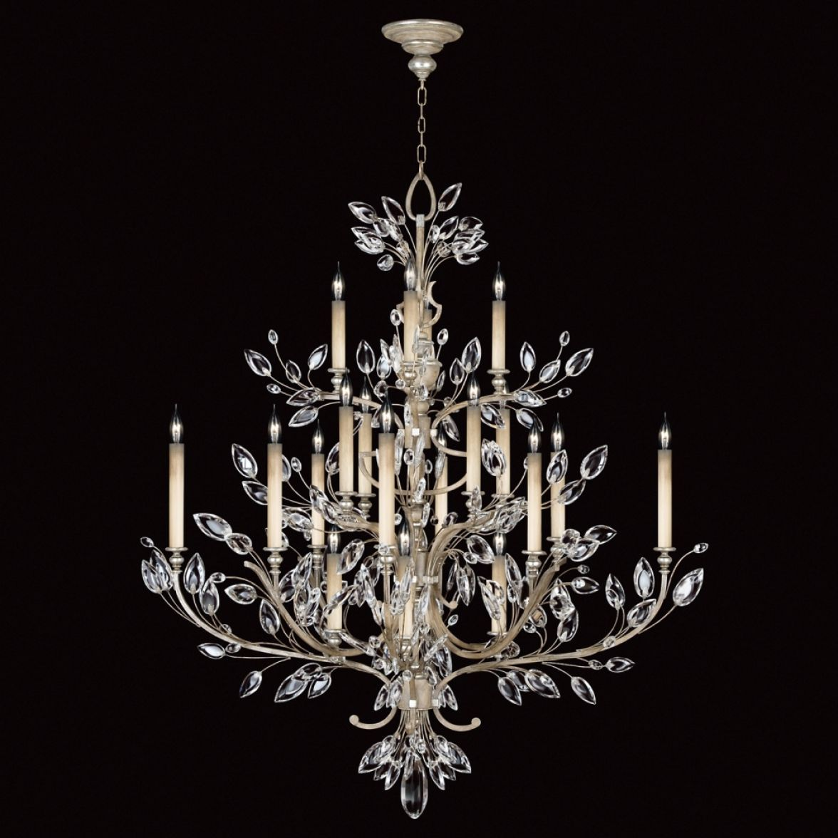 Crystal Laurel chandelier