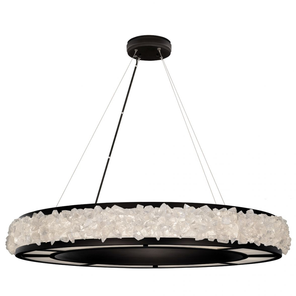 Arctic halo chandelier