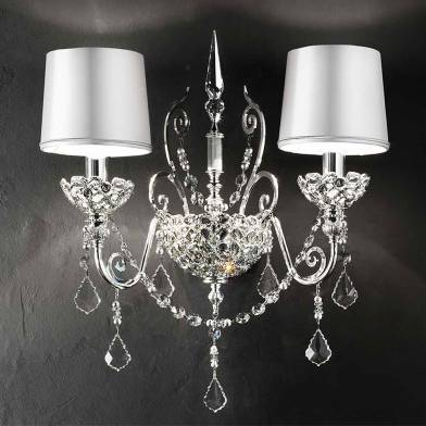 Silver Imperial sconce