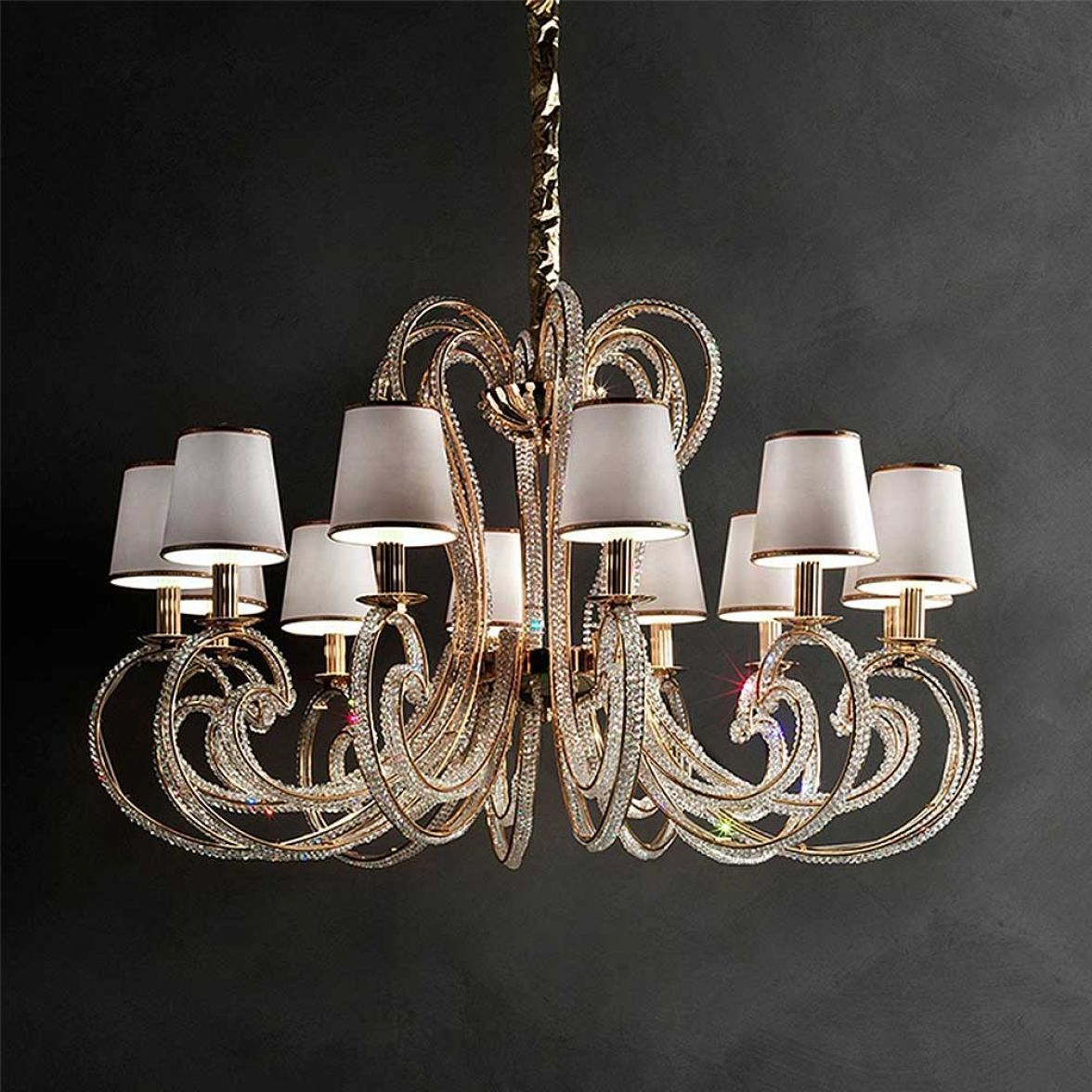 CRISTALRY GOLD chandelier фото цена