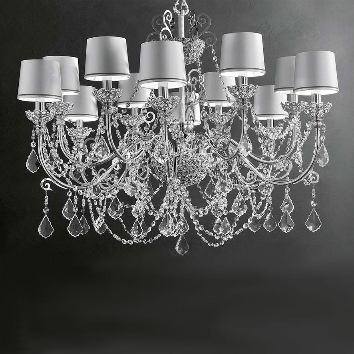Silver Imperial chandelier