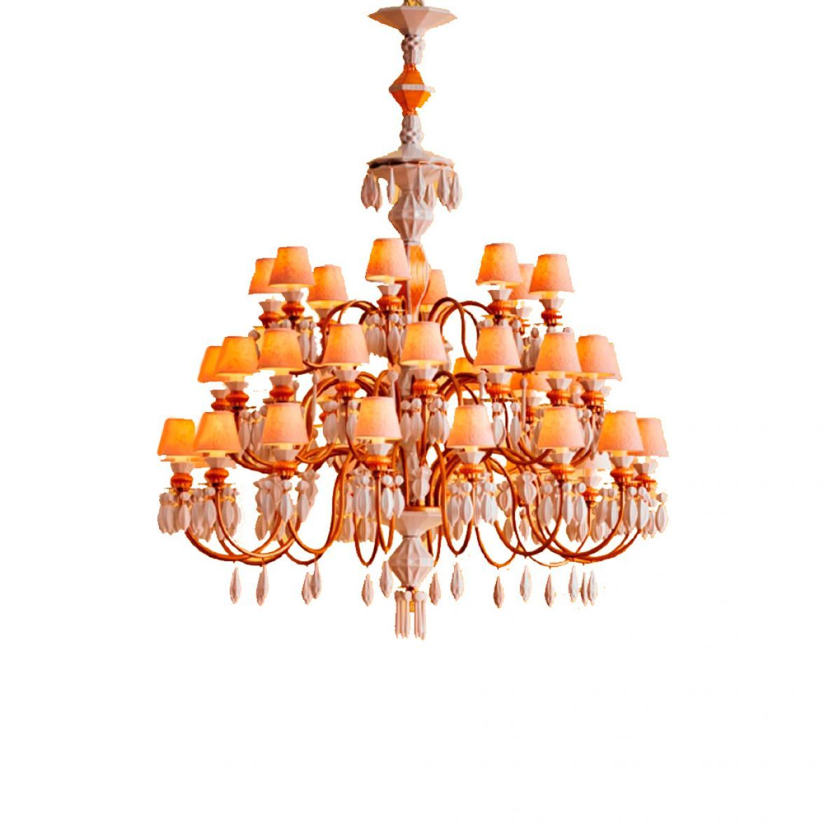 40 luces chandelier