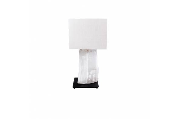 Selenite white table lamp  фото цена