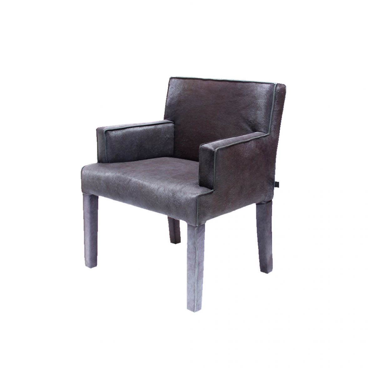 Stockholm hairy grey armchair