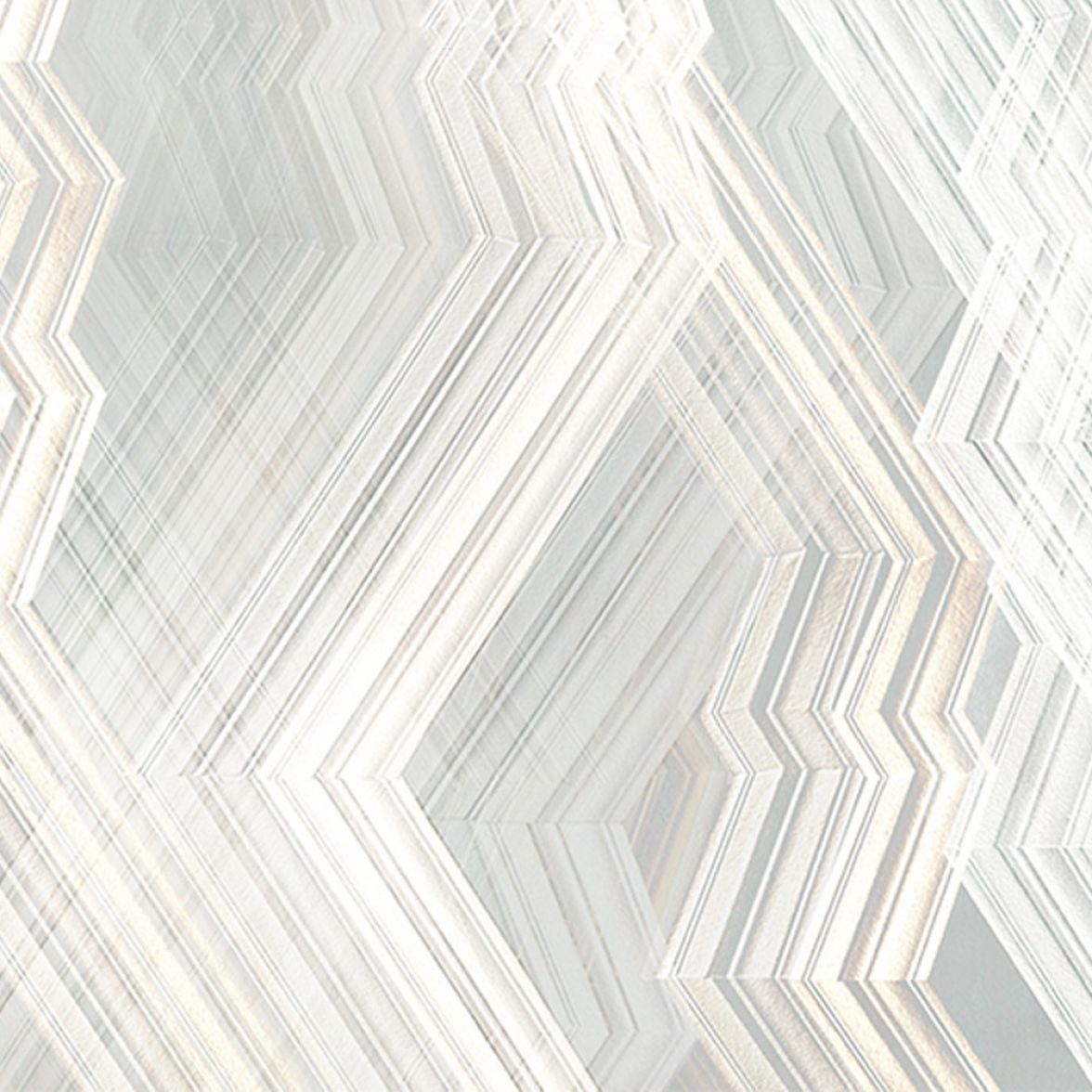 Echo Silver grey Led Wallpaper
