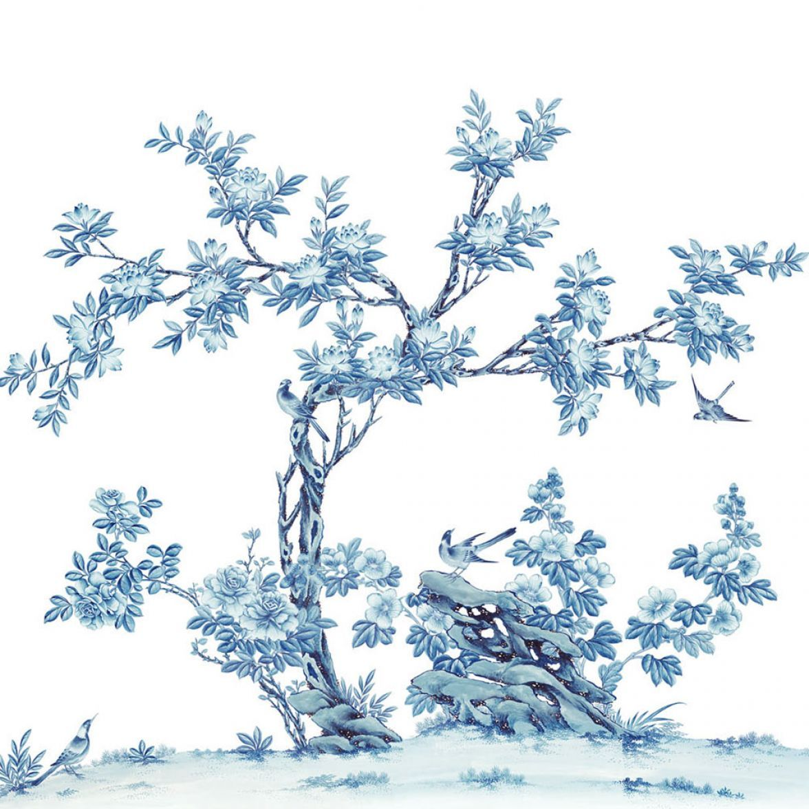 Обои Mesanges et magnolias фото цена