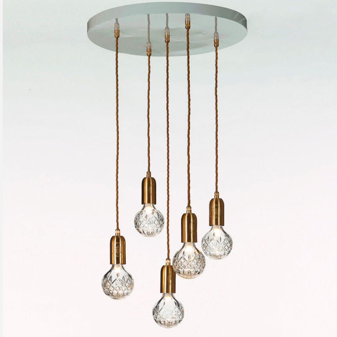 Clear crystal bulb 5 chandelier