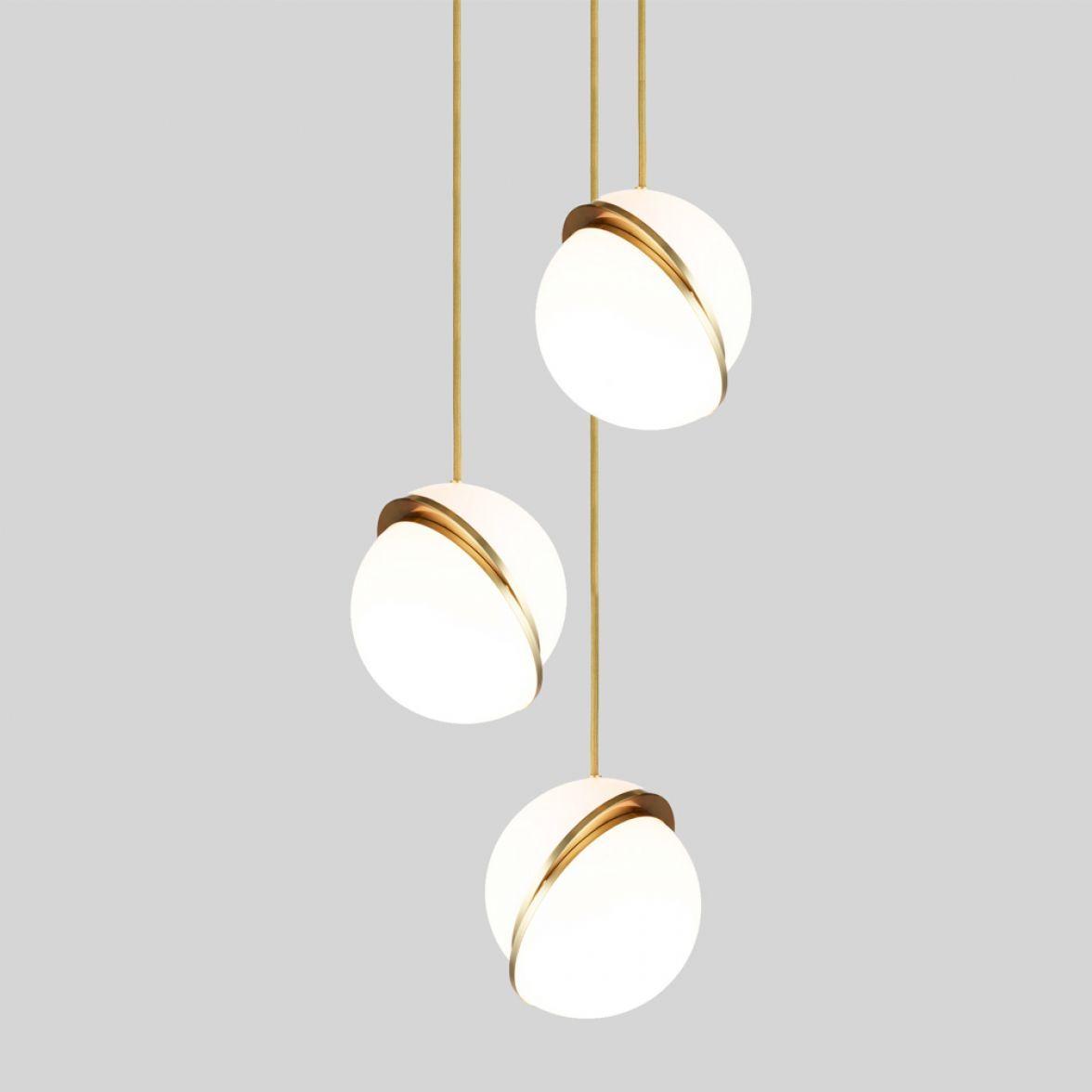 Mini crescent 3 piece chandelier