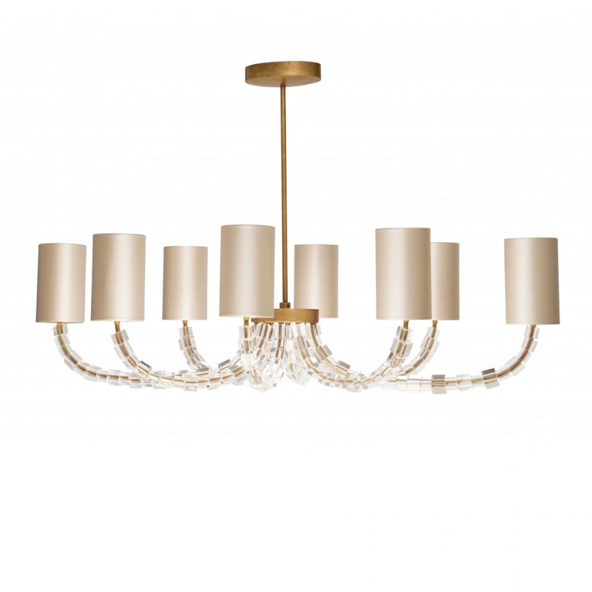 Oval Lartigue chandelier