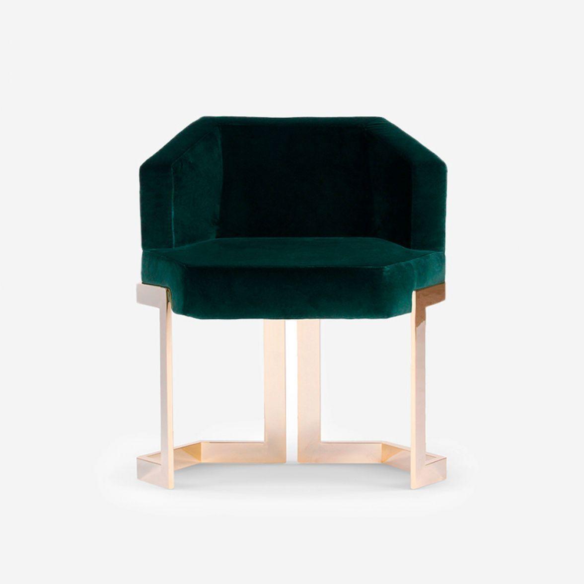 Honeybee metal dining chair