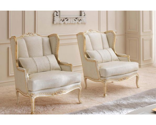 Demi armchair with pouff