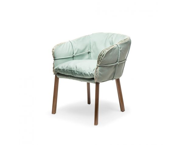 Parchment armchair
