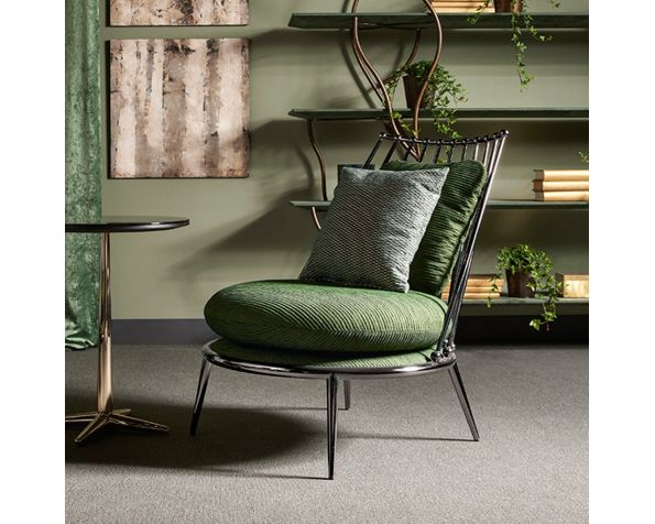 Aurora iron back armchair