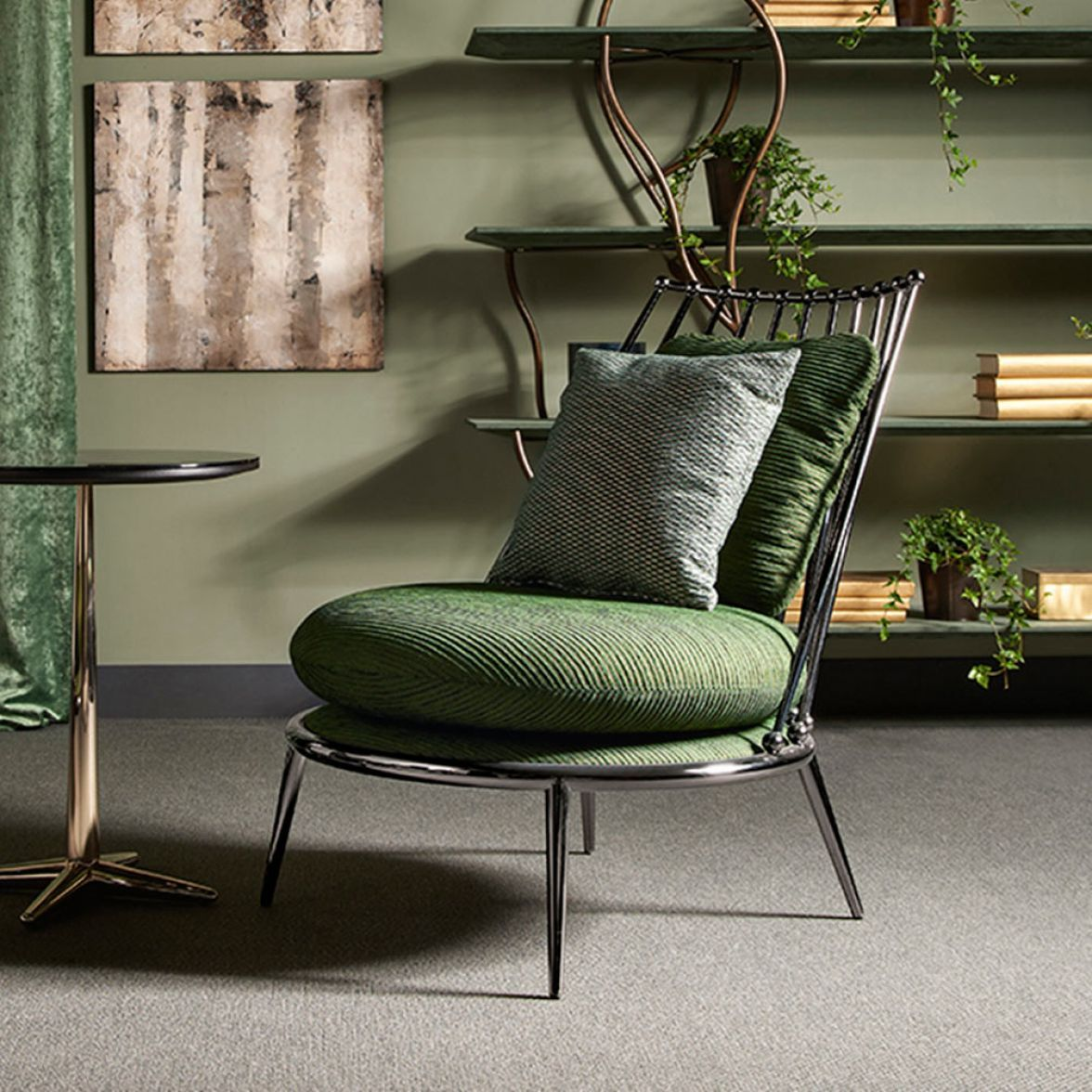 Aurora iron back armchair