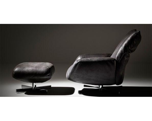 Chiara armchair with pouf