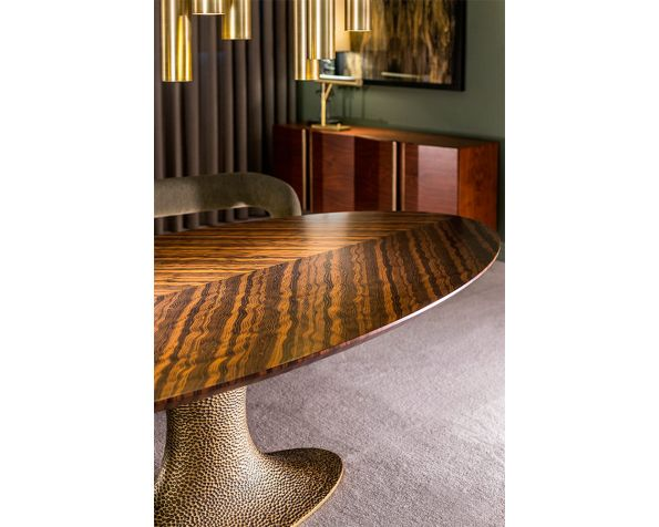 INES HAMMERED  dining table