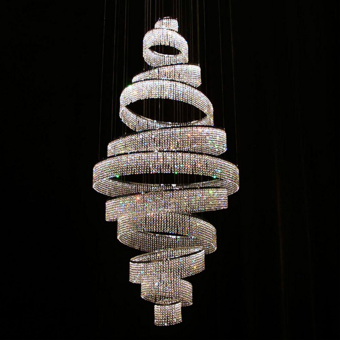 Swirl chandelier
