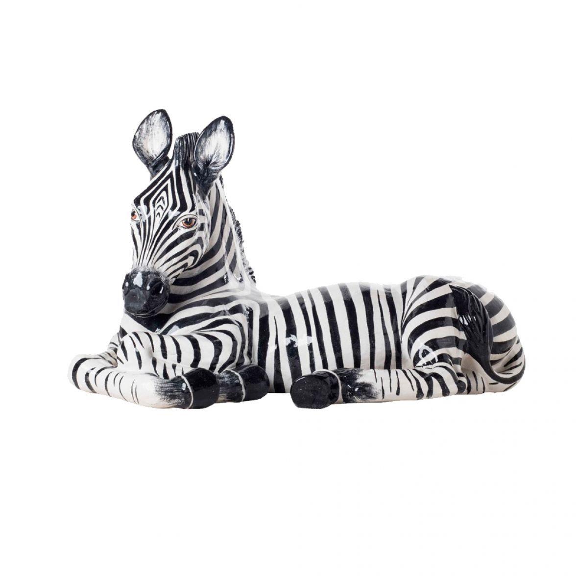 LYING ZEBRA Sculpture