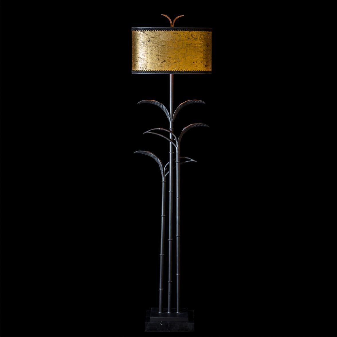 """Floor lamp """"Bambou noir"""""""