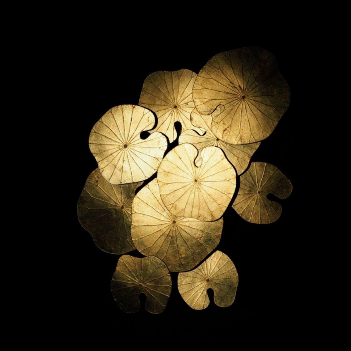 "Decoration ""Lotus Nymphaea d'or"""