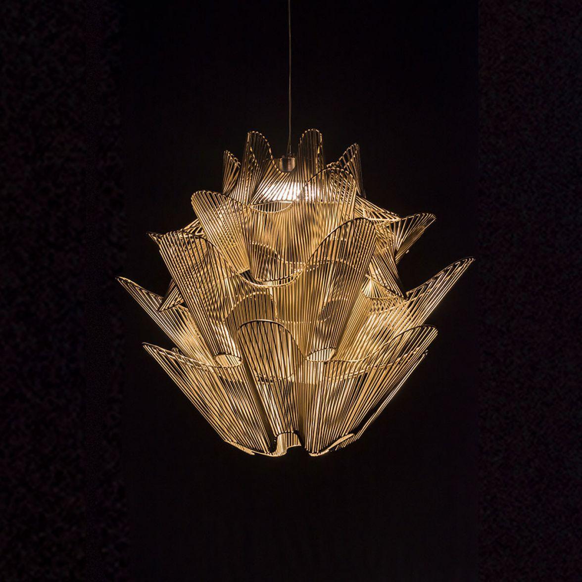 Moire chandelier
